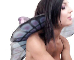Daniella endures a huge toy slope against her cooter in a threesome affair
