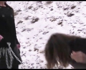 Bondage, Lesbian Domination, and Foot Worship in the Snow