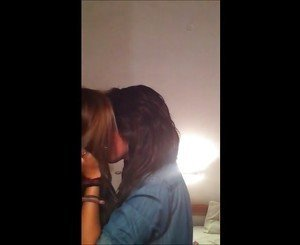 2 friend hot lesbian kissing