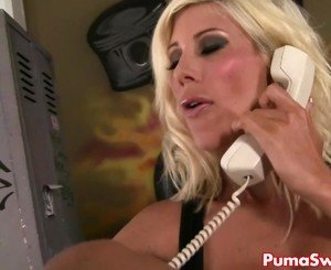 Puma Swede in hot Lesbian Threesome with Roller Girls!