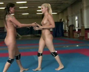 Lesbian Nude Wrestling Competition Part IV