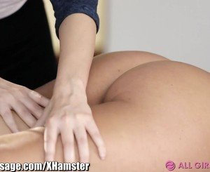 Lesbian Mommy and stepdaughter Massage Foursome