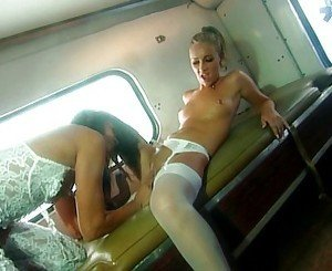 White lingerie lesbian pleasure good pussy working