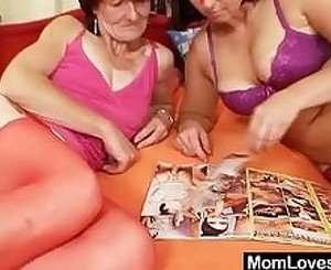 Extremly hairy bushy granny gets lesbian with younger naturaly bi