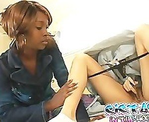 Ebony Sluts Playing With Dildo