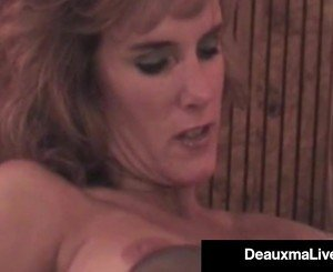Hot Busty Cougar Deauxma Gets Strap On Fucked By GF Allure!