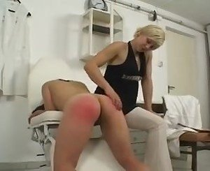Spanked and wanked at the doctor's surgery