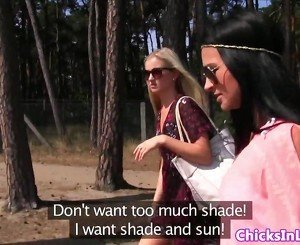 European lesbians pussylick at the lake