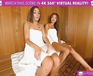 VR PORN-Jaye Steaming the Sauna with exotic asian babe